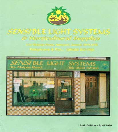 Sensible Light Systems Brochure Front